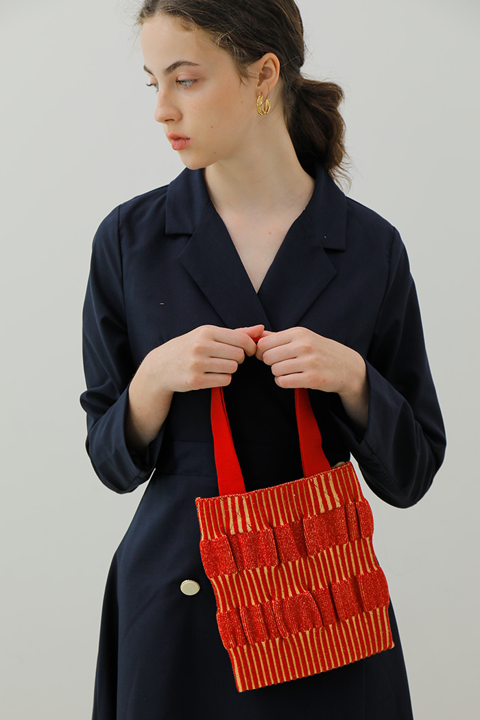 WAVE MINI KNIT BAG_RED