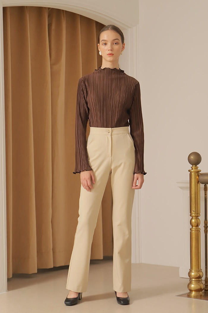 BELL BOTTOM PANTS_BEIGE